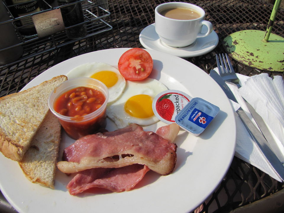 Frühstück Restcamp Lower Sabie