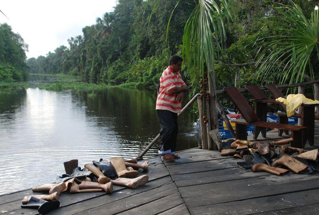Miejsce cumowania łodzi Orinoco Bujana Lodge