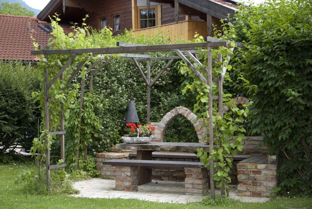 Gemütliche Laube Im Garten Ferienwohnung Gamsei Grassau