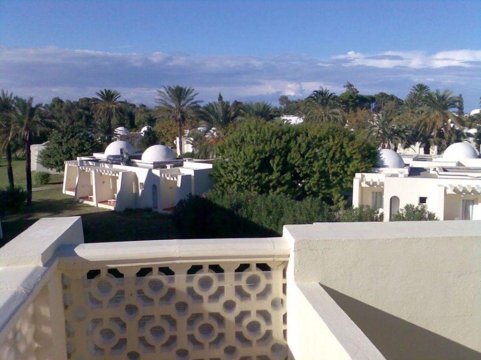 Blick vom Appartementhaus auf die restliche Anlage Hotel Thalassa Village Skanes