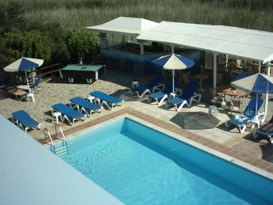 Pool mit Poolbar Hotel Almiros Beach
