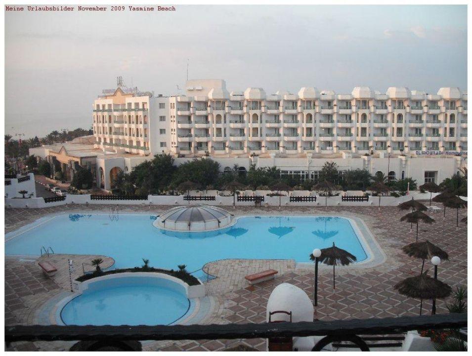 Blick aus meinem Hotelzimmer Hotel Yasmine Beach Resort