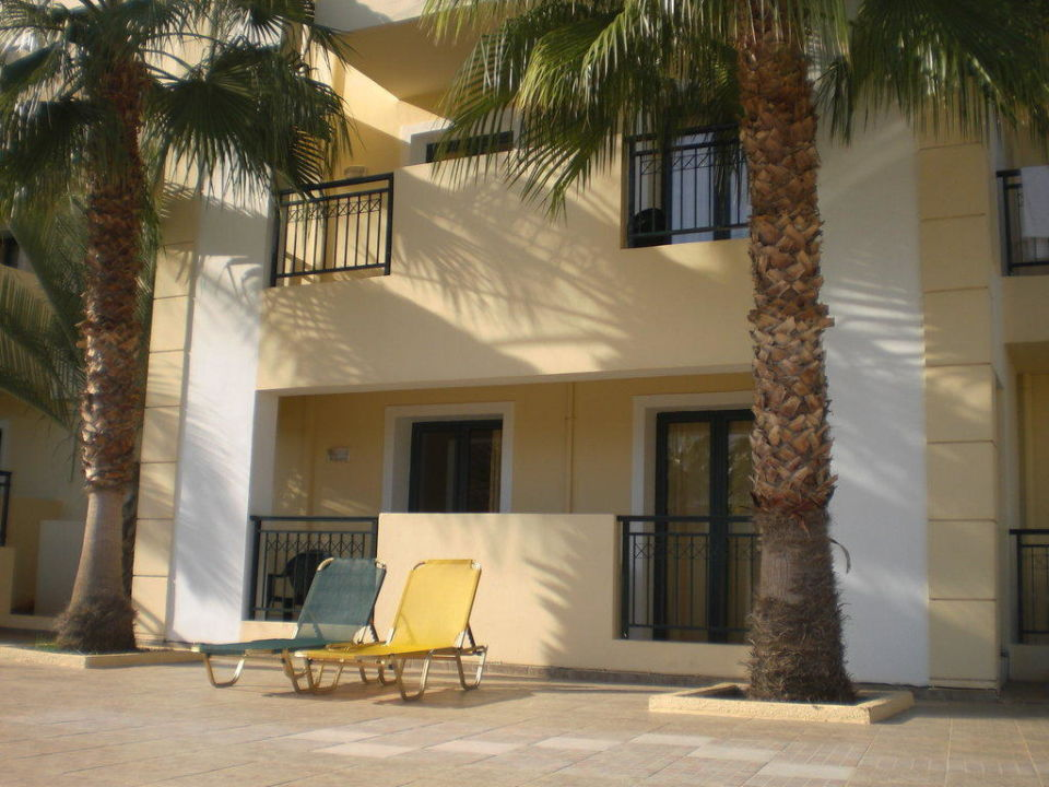 Balkon am Pool Hotel Gouves Park Holiday Resort & Waterpark