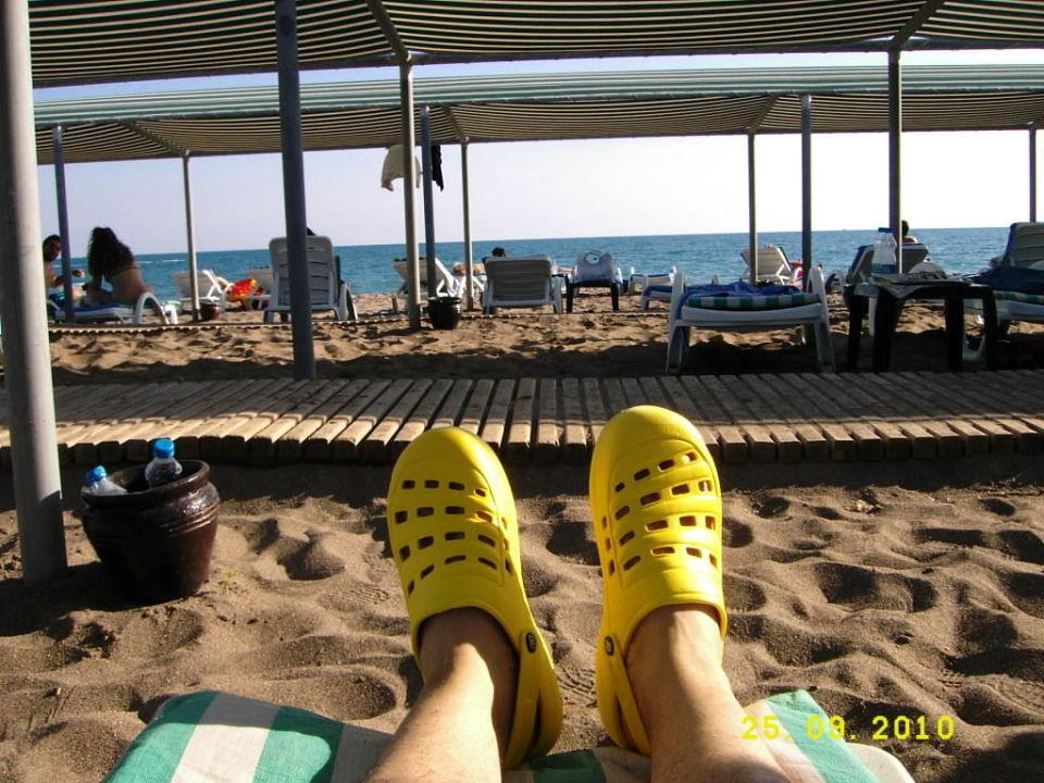 Feine Sandstrad, Liegen, Sonne, Meer! Green Max Hotel