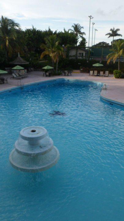 Pool mit Brunnen Jamaica Pegasus Hotel