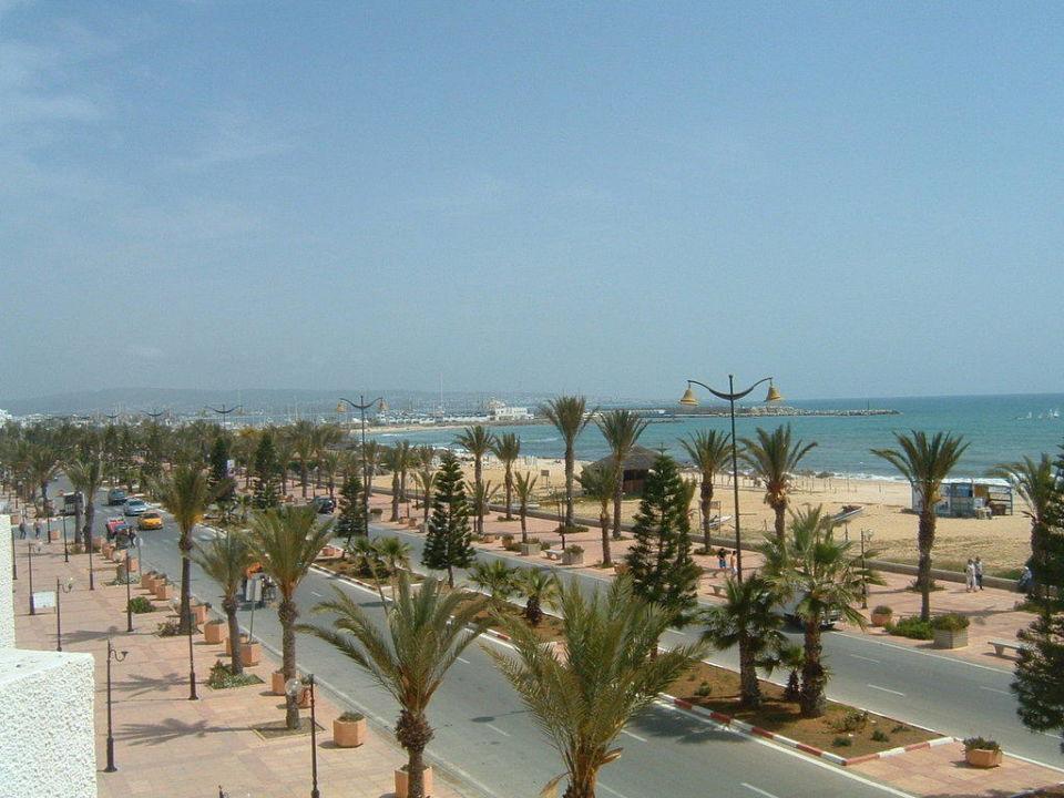 Balkonblick Richtung Yasmine-Hafen El Mouradi Hammamet