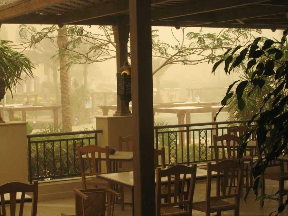 Sandsturm am 4. Tag Hotel JAZ Makadi Star & Spa