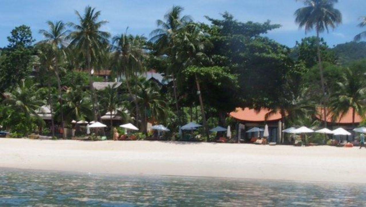 Sicht auf die Anlage vom Meer Samui New Star Resort