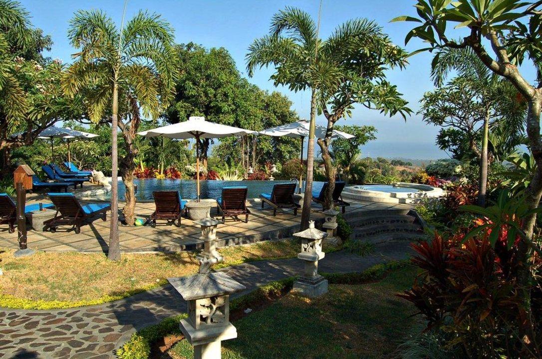 Der Blick von unserer Veranda Hotel Puri Mangga