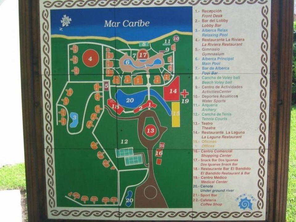Lageplan Sandos Caracol Eco Resort