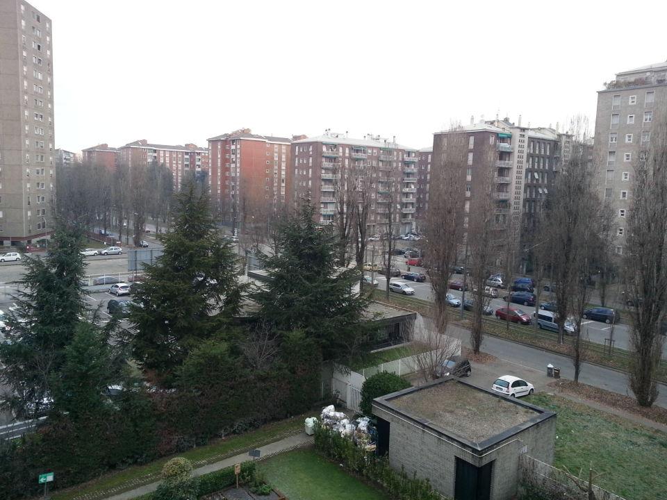 Vom 5 Stock in Richtung Innenstadt ibis Hotel Milano Ca Granda