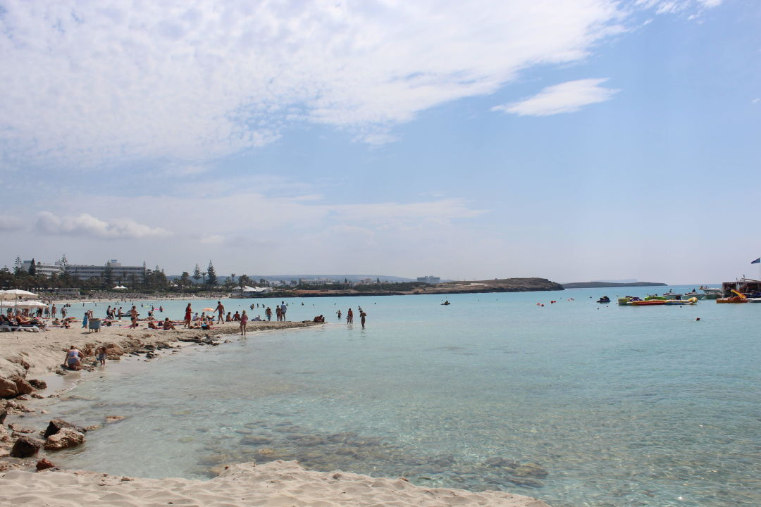 Nissi Beach Strand Direkt Vorm Hotel Atlantica Aeneas Resort