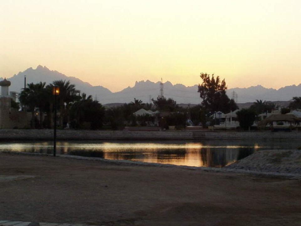 Sonnenuntergang beobachtet im Hotel Ali Baba Hotel Ali Baba Palace