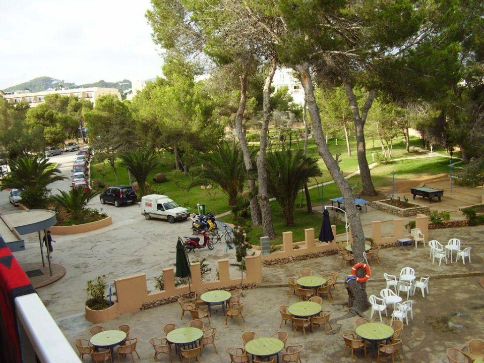 Blick auf Eingangsbereich Hotel Els Pins  (Vorgänger-Hotel – existiert nicht mehr)