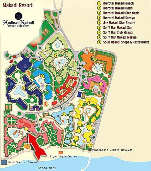 Karte Vom Makadi Resort Hotel Iberotel Makadi Beach Makadi Bay