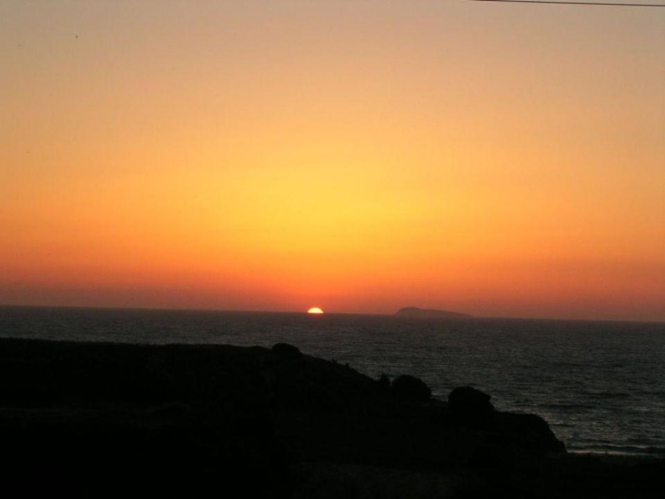 Sonnenuntergang Hotel Kouros Club  (geschlossen)