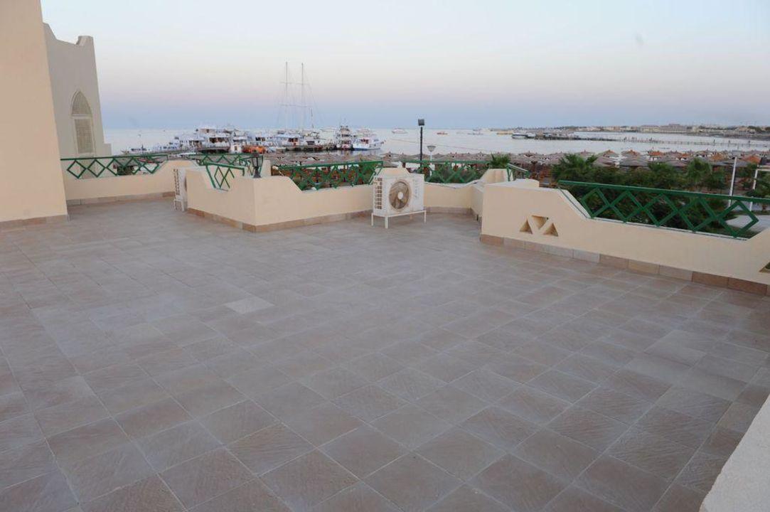 Balkon im Lagoonbereich Tia Heights Makadi Bay