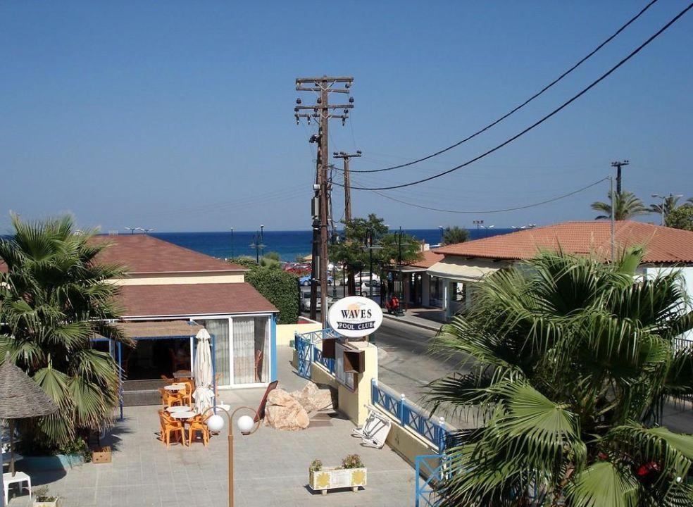 Widok z okna Hotel Studios Angelos