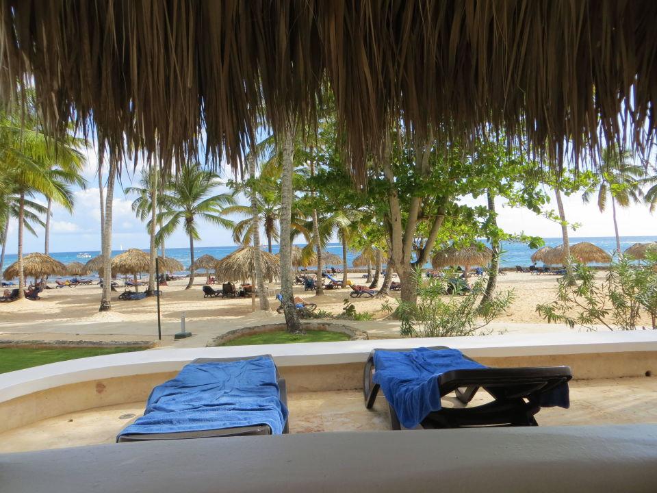 Blick Vom Meerblick Bungalow Nach Draußen Hotel Viva Wyndham Dominicus Beach