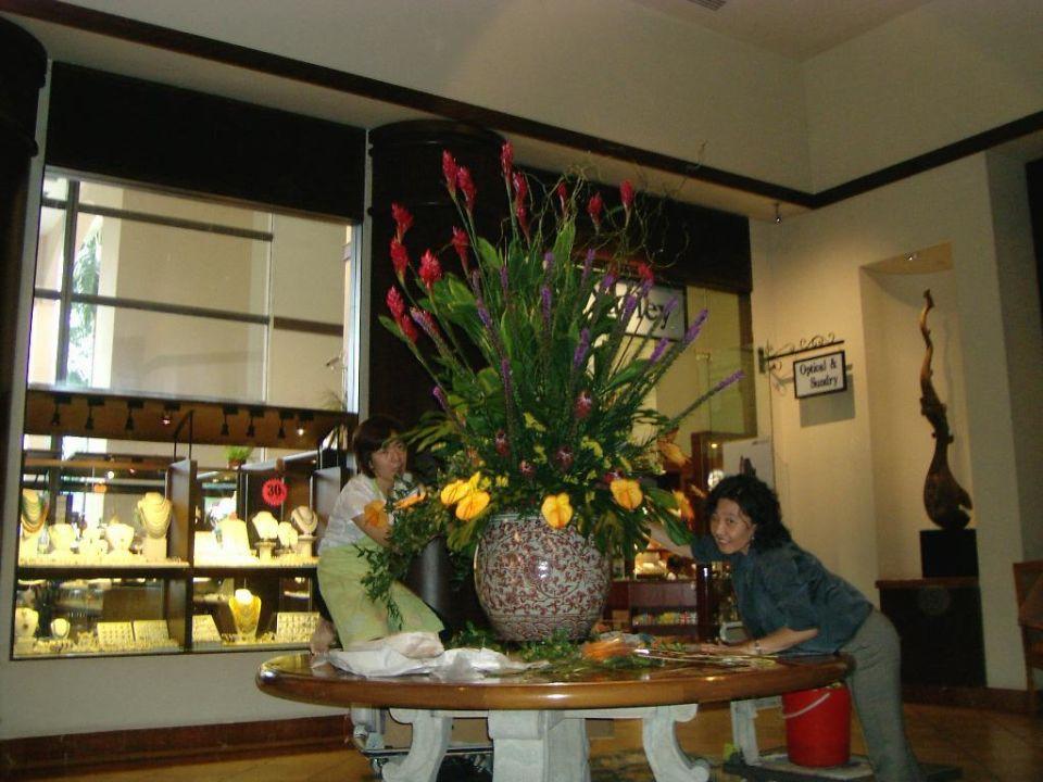 Merchant Court Hotel Blumengrüße in der Lobby Swissotel Merchant Court