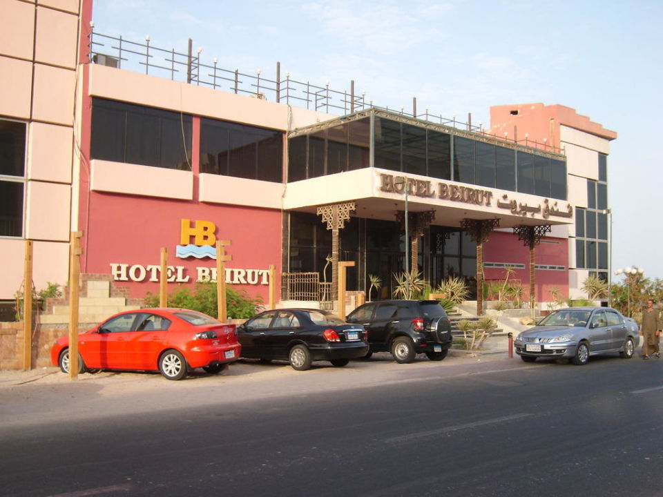 Od strony ulicy Hotel Beirut