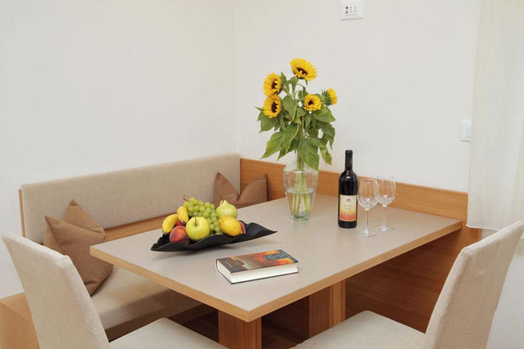 Ferienwohnung 33m² - Essbereich Ferienwohnungen Ultental