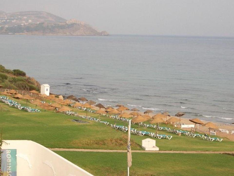 Aussicht von unserem Zimmer zum Strand/Meer Hotel Club Valtur Tabarka