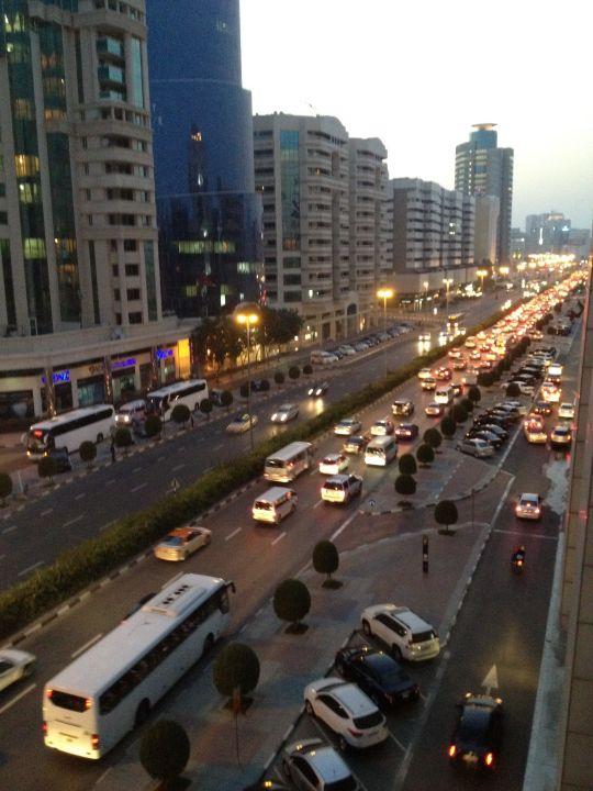 Blick vom Balkon 3. Schlafzimmer Khalidia Apartments