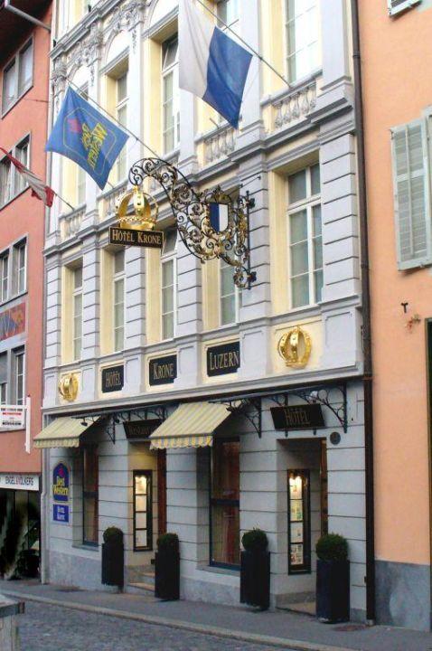 Aussenansicht Hotel Krone Luzern Altstadt Hotel Krone Luzern