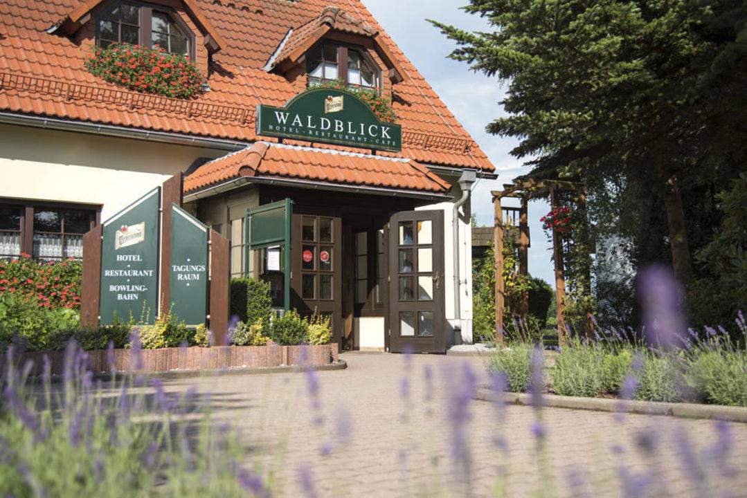 Eingangsbereich vor dem Haus Landhotel Waldblick