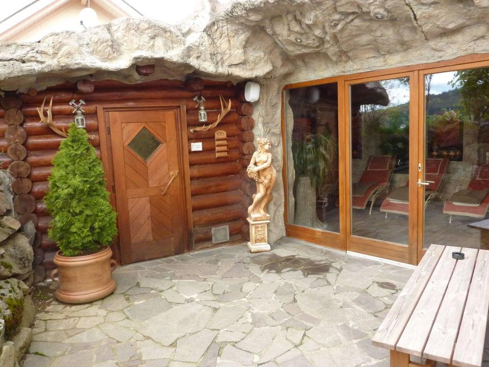 sauna aussenbereich hotel bergknappenhof bodenmais. Black Bedroom Furniture Sets. Home Design Ideas
