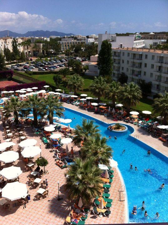 Blick Vom Balkon Unseres Zimmers Allsun Hotel Orient Beach