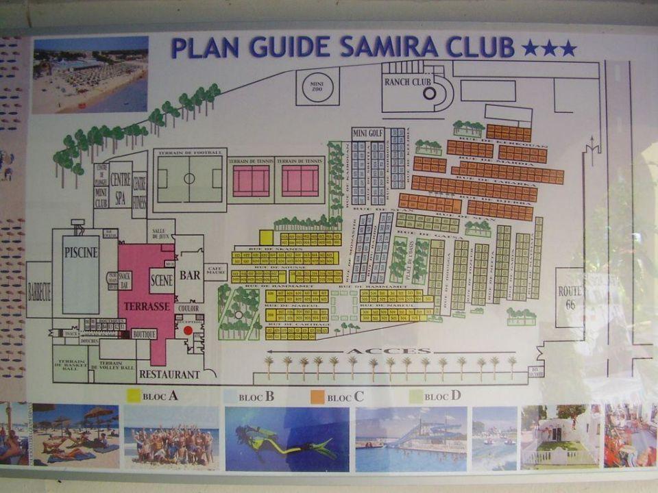 Hotelplan ( Lage Der Bungalows ) Hotel Samira Club