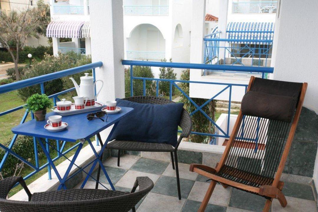 Balcony Gerakina Skala Holiday Houses - Blue House