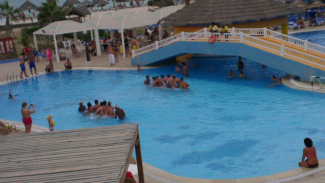 Wasserspiele Im Pool Hotel Caribbean World Djerba
