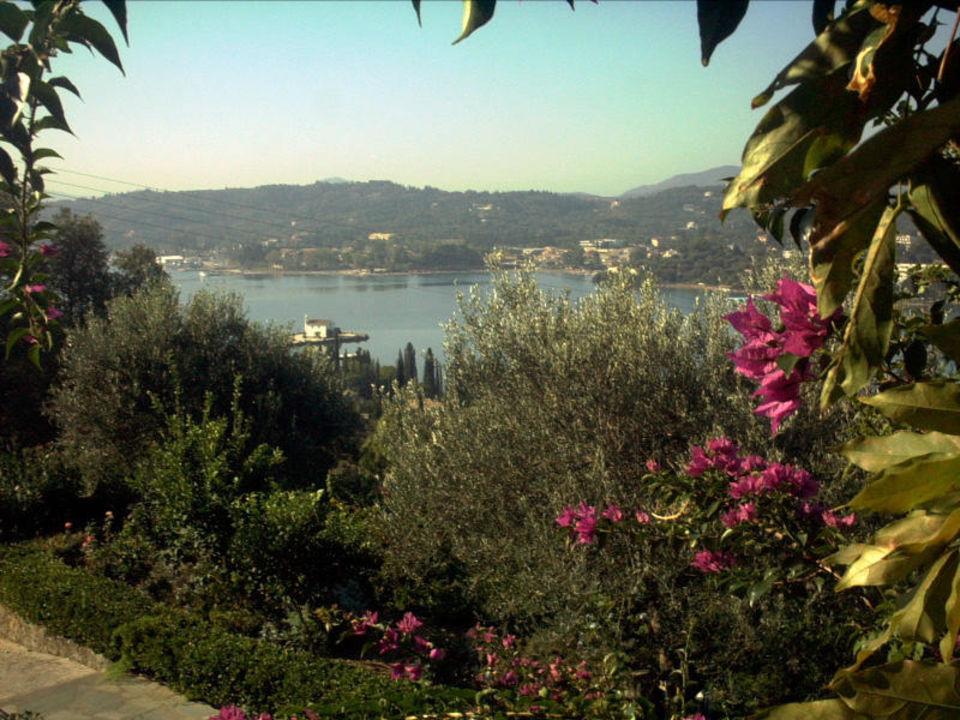 Blick auf die Bucht von Gouvia Hotel Nefeli