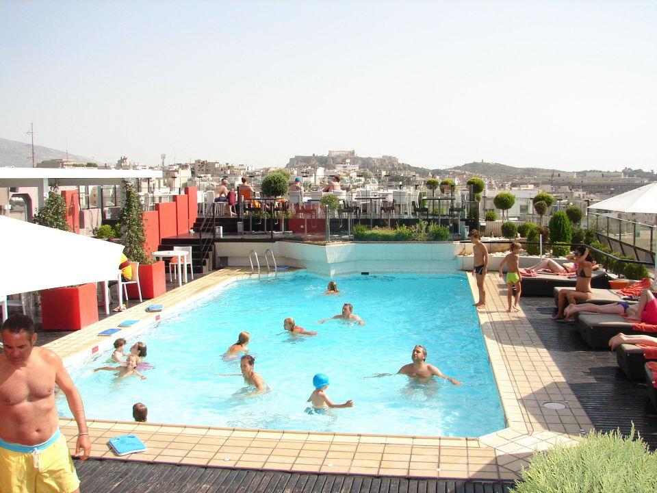 Dachterrasse Mit Ausblick Auf Akropolis Hotel Novotel Athen Athen Holidaycheck Athen
