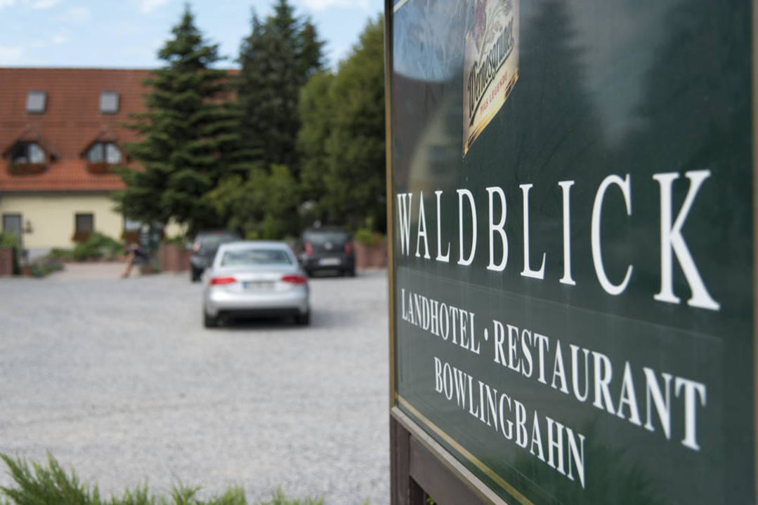 Der Hotelparkplatz Landhotel Waldblick