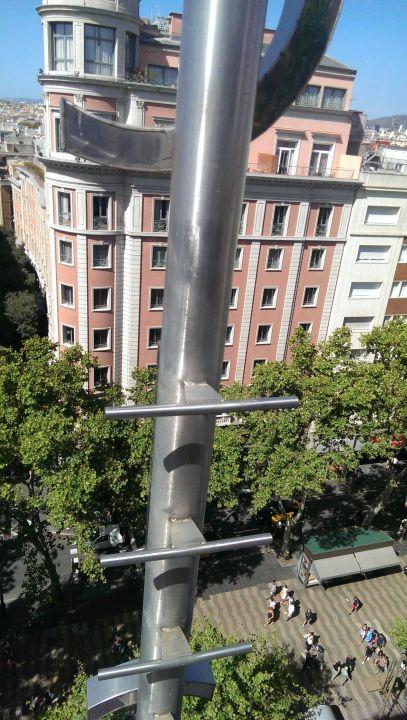 Ramblas , view from the terrace Citadines Ramblas Barcelona