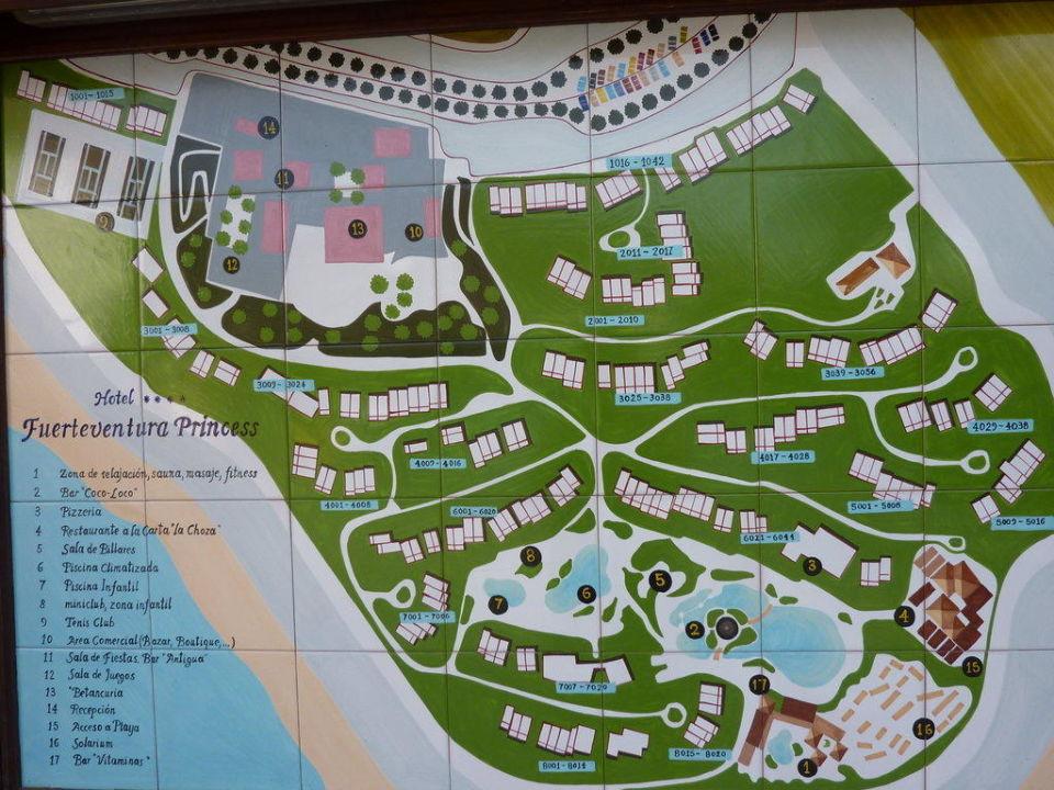 Hotelanlagenplan Fuerteventura Princess