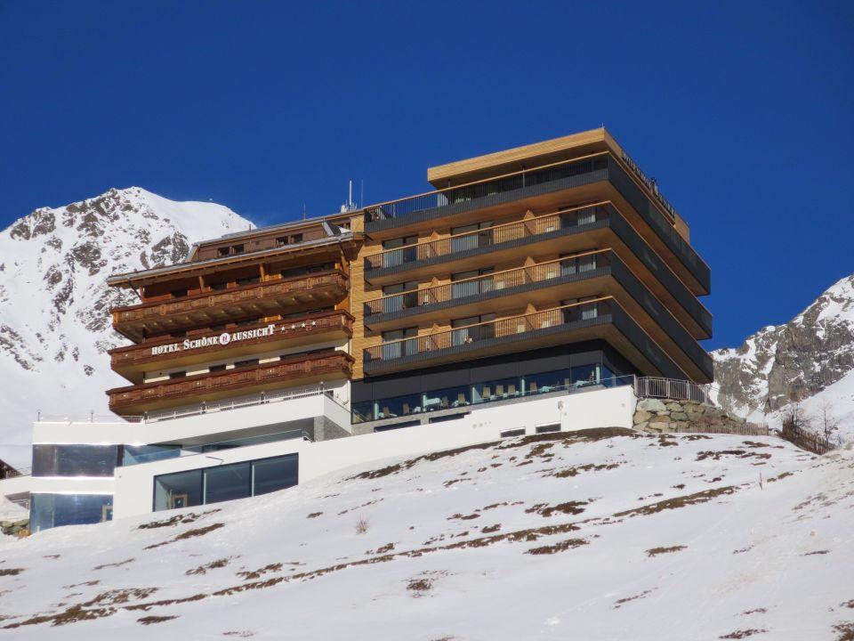Aussenansicht Vom Skilift Hotel Schone Aussicht Hochsolden
