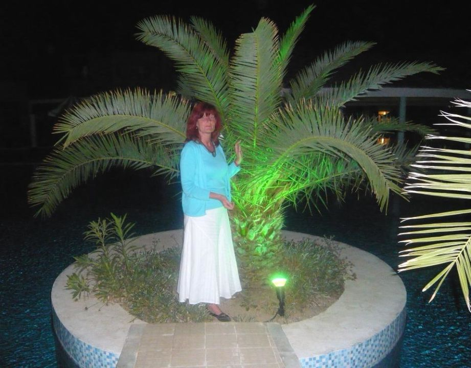 Hotelanlage am Abend Hotel Djerba Holiday Beach