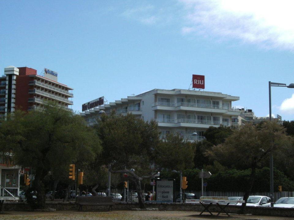 Von der Strandpromenade aufgenommen Hotel Riu Concordia