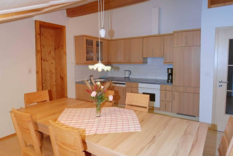 Küche und Essplatz Wohnung Hornblick\