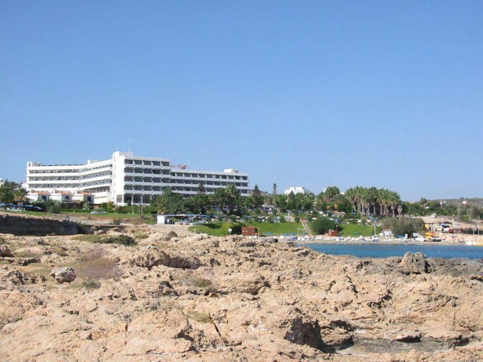 Hotelanlage mit Strand Hotel Cavo Maris Beach