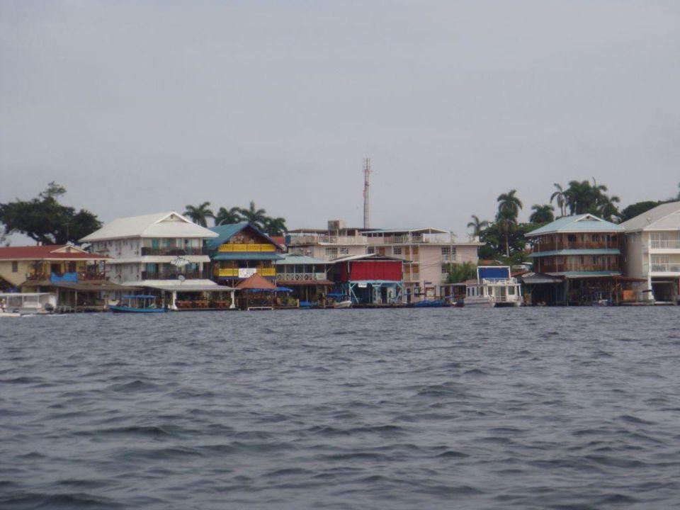 Das Hotel vom Meer aus Hotel Bocas Del Toro