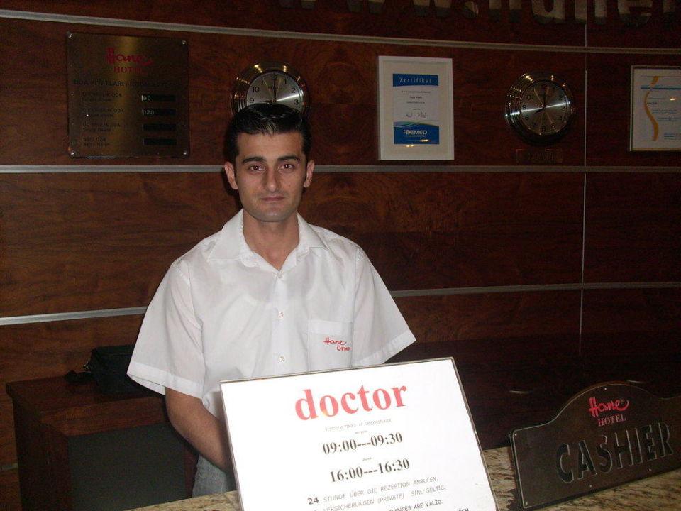 Serkan von der Rezeption Hane Hotel