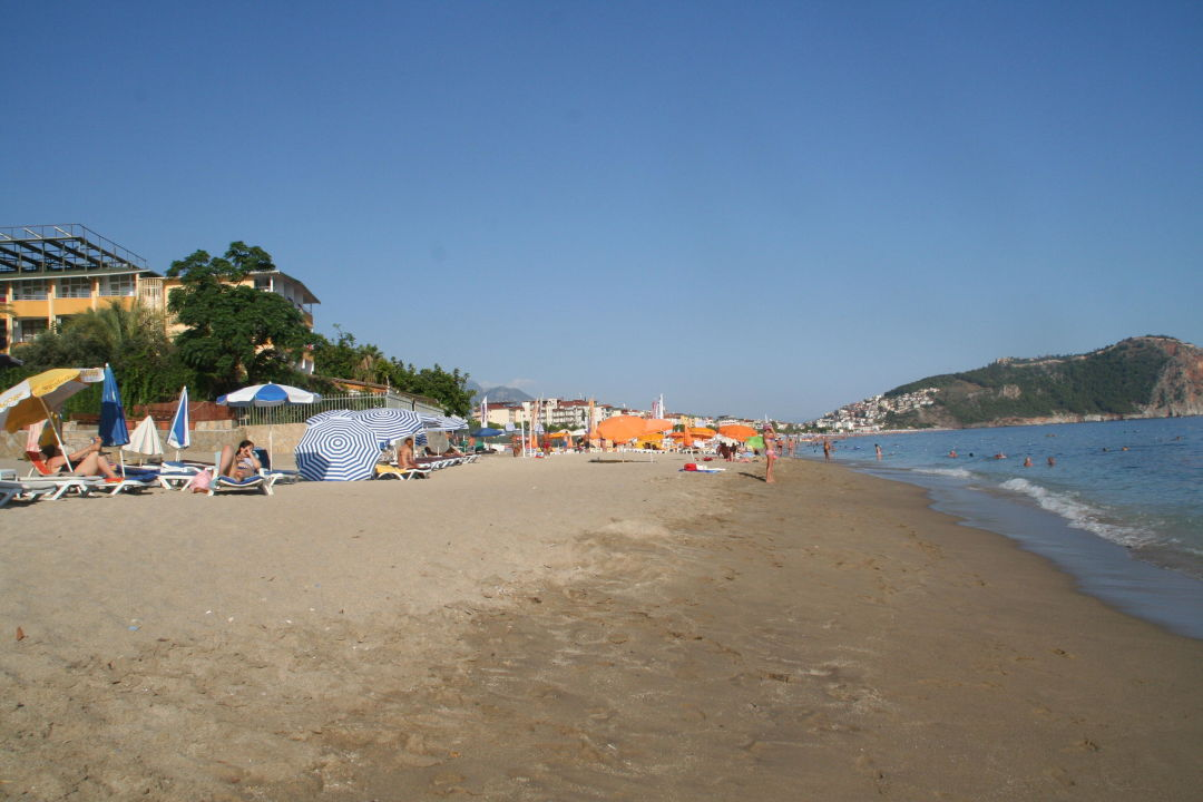 Blick Auf Den Strand Hotel Kleopatra Muz Hotel Alanya