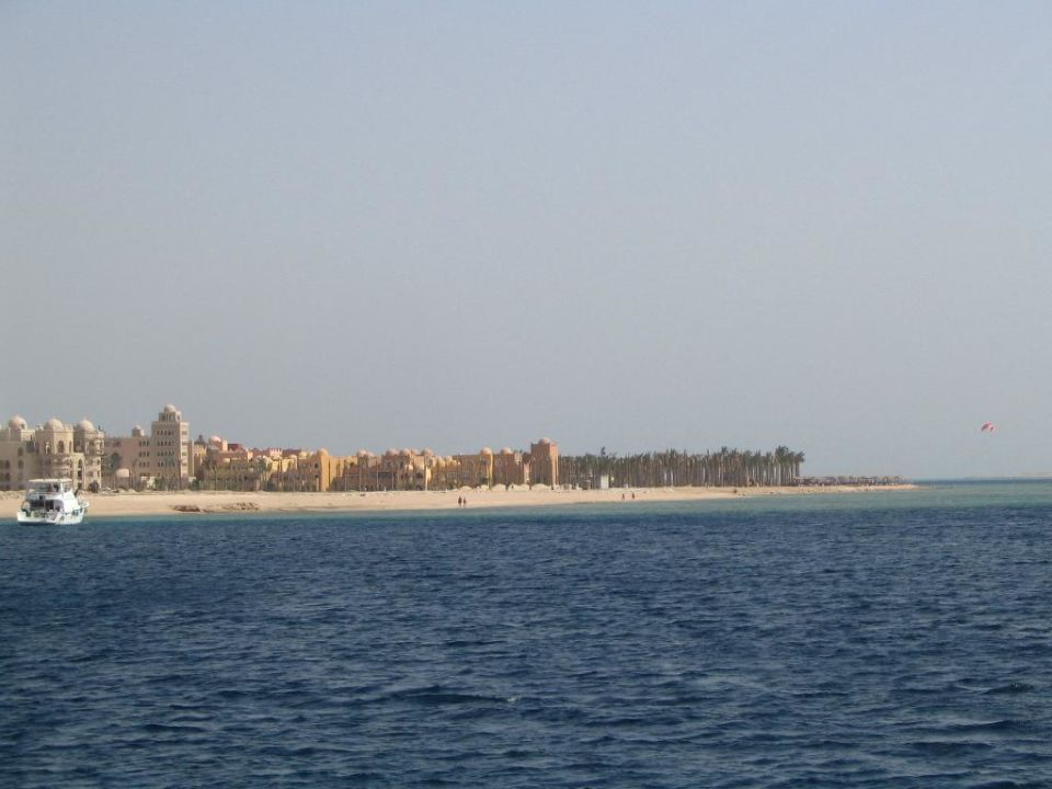 Anlage vom Meer aus betrachtet The Grand Makadi