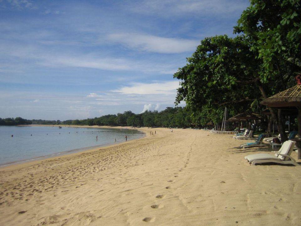 Strand bei Flut Richtung Melia The Westin Resort Nusa Dua, Bali